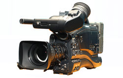 Professional digital video camera Royalty Free Stock Images