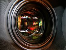 Professional digital video camera. Cinematography in the pavilion Royalty Free Stock Photos