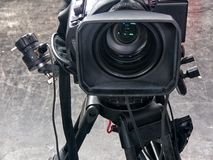 Professional digital video camera. Cinematography in the pavilion Stock Image