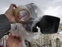 Professional digital video camera Stock Images