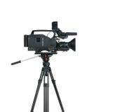 Professional digital video camera. Professional digital video camera, isolated on white background Stock Images