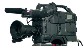 Professional digital video camera. stock video footage