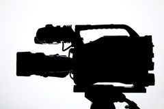 Professional digital video camera Stock Images