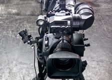 Professional digital video camera. Cinematography in the pavilion Stock Photo