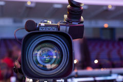 Professional digital video camera. Royalty Free Stock Images