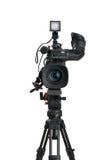 Professional digital videokamera. Royaltyfria Bilder