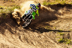 Professional dirt bike rider Stock Photos