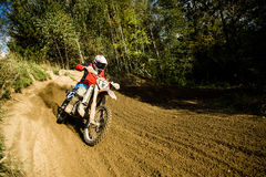 Professional dirt bike rider Stock Images