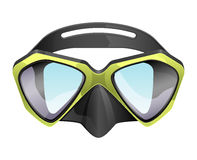 Professional diving mask snorkeling vector isolated on white background.  Stock Photography