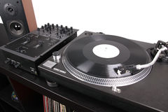 Professional dj equipment Stock Images