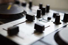 Professional DJ midi controller sound mixer Stock Photography