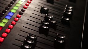 DJ Working With Sound Mixing Console Stock Video - Video of
