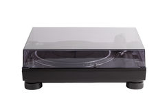 Professional dj turntable with glass cover Stock Photography