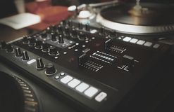 Free Professional Dj Turntable Vinyl Records Player Royalty Free Stock Photography - 132785787