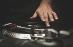 Professional dj turntable vinyl records player royalty free stock images