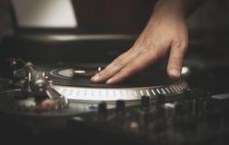 Professional dj turntable vinyl records player royalty free stock image