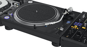 Professional dj turntable, zoomed view Stock Image