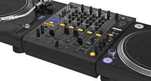Professional dj turntable, zoomed view Royalty Free Stock Photos
