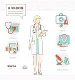Professional doctor stock illustration