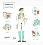 Professional doctor Royalty Free Stock Photography
