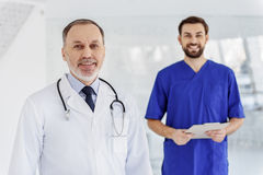 Professional doctor meeting his patient Royalty Free Stock Photo