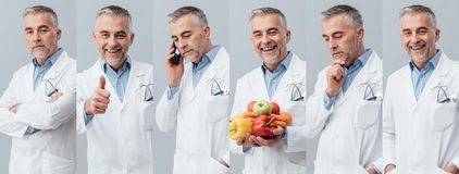 Professional doctor photo collage Royalty Free Stock Images