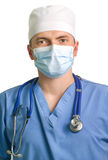 Professional doctor with a stethoscope Royalty Free Stock Photos