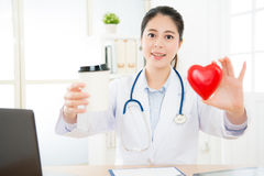 Professional doctor woman looking at camera Royalty Free Stock Photos