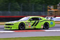 Professional Dodge Challenger race car on the track Royalty Free Stock Photography