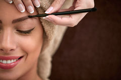 Professional drawing eyebrows Royalty Free Stock Photo