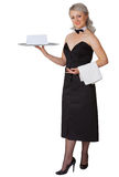 Professional dress code for waitress Royalty Free Stock Photo