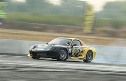 Professional drift racer slid around Stock Image