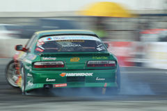 Professional drift racer slid around Royalty Free Stock Photography