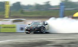 Professional drift racer slid around Stock Photos