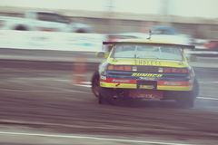 Professional drift racer slid around Royalty Free Stock Photos