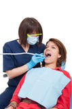 Professional drilling procedure at dentist Royalty Free Stock Photography