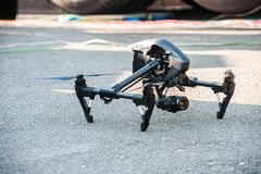 Professional drone with camera stock photos