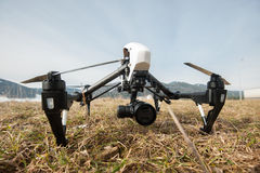 Professional drone on ground Royalty Free Stock Images