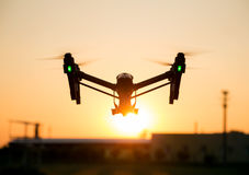 Professional drone in the sunset Royalty Free Stock Photo