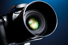Professional DSLR camera Stock Image