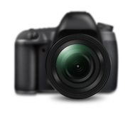 Professional DSLR camera isolated on white Stock Images