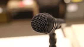 Professional dynamic microphone for song. Sideways movement