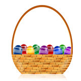Professional Easter Basket Eggs Illustration Stock Image