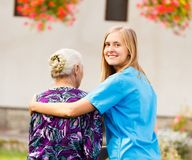 Professional Elderly Care Royalty Free Stock Photos