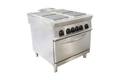 Professional electric stove at restaurant Royalty Free Stock Photo