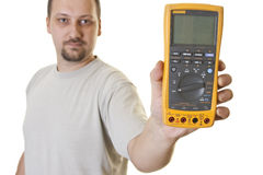 Professional electrical multimeter Stock Photo