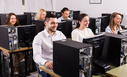Professional employees of sales department Stock Photo