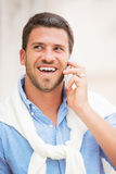 Professional entrepreneur talking on cell phone Royalty Free Stock Photography