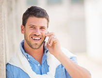 Professional entrepreneur talking on cell phone Stock Images