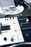 Professional equipment of a DJ Royalty Free Stock Images